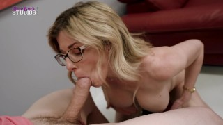 My Horny Step Mom with Huge Tits Dares Me to Get Hard – Cory Chase